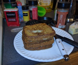 Apple Cider and Cinnamon French Toast