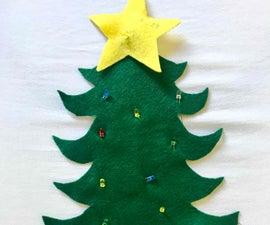 Xmas Tree Wearable Textile LED // Árbol Navidad Textil Y LEDs