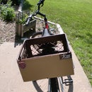 How to put bumper stickers on a bike with a milk crate.