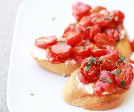 Roasted Tomato and Ricotta Crostini
