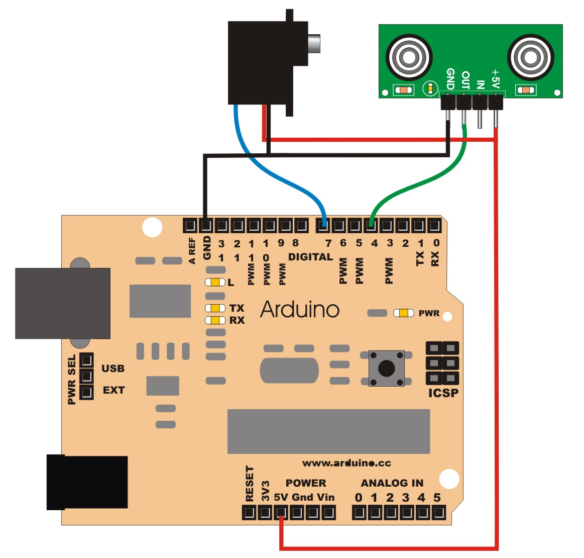Picture of Connecting the Arduino