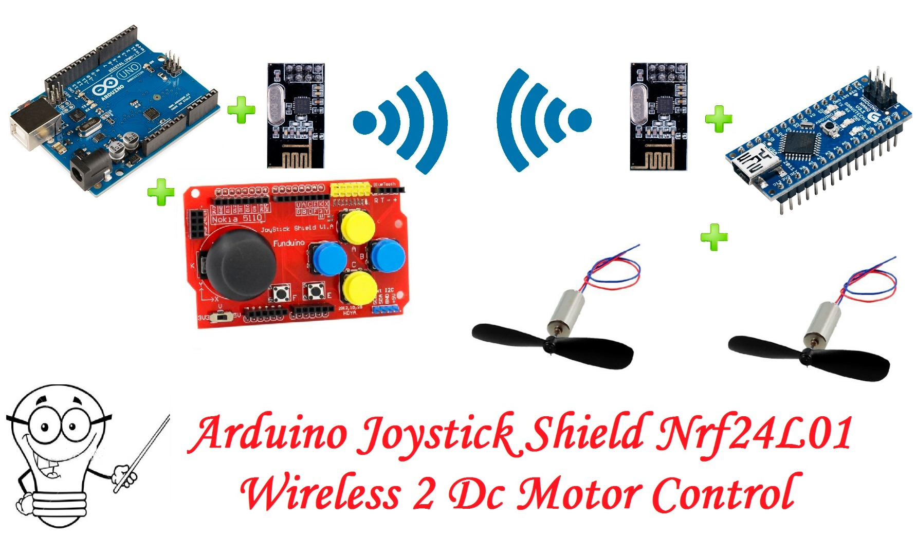 Picture of Arduino Joystick Shield Nrf24l01 Wireless 2 Dc Motor Control -- RC Car Project Part 1