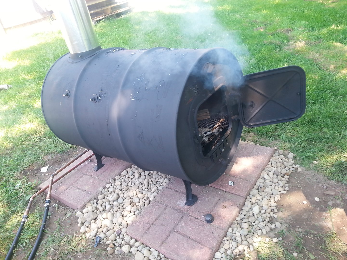 Picture of Wood Burning Pool Heater - Great for Suburban Pools