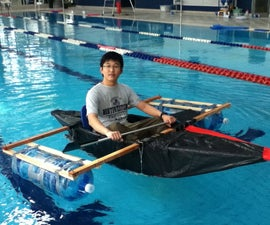 Duct tape and Tarp Kayak