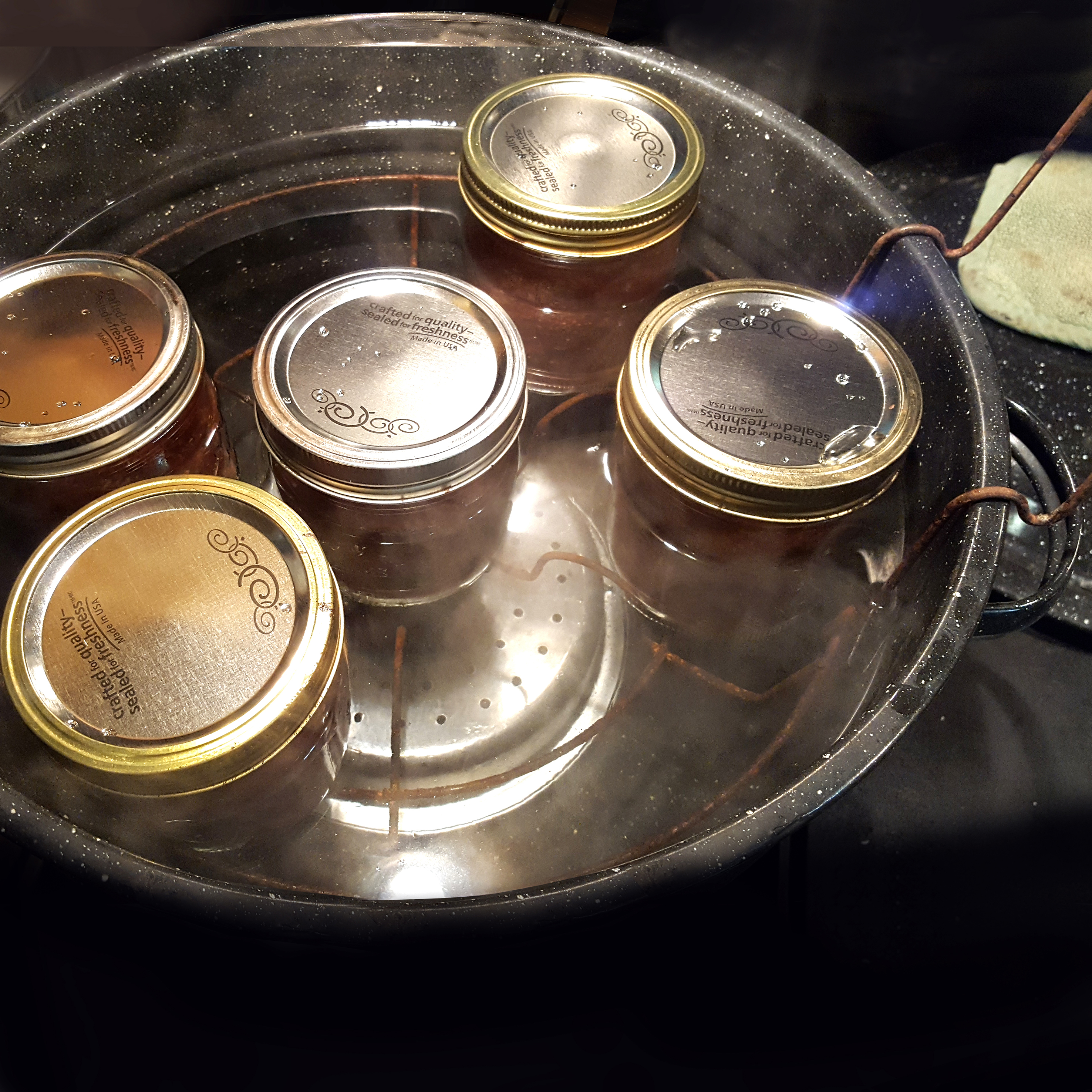 Picture of Add Jars of Jam to Boiling Water Bath