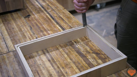 Adding the Bottom and Spring to the Drawer