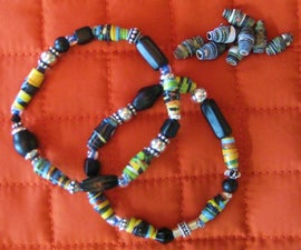 Make a RECYCLED PAPER BEAD Bracelet!