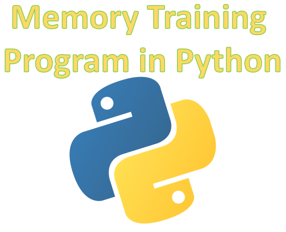 Picture of Memory Trainer in Python