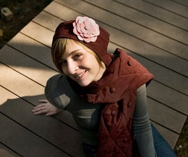 Couch Scarf and Flapper Hat from Men's Shirt
