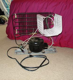 Picture of Installing Mini Fridge Internals Into Dresser