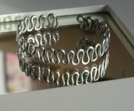 Wavy zigzag wire bracelet