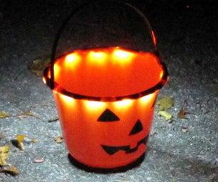 Light-up Trick-or-Treat Bucket
