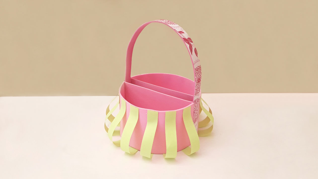 Picture of Let's Decorate the Basket Using Paper Strips!