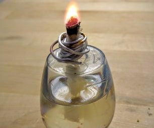 Improvised Coconut Oil Mini-Lamp