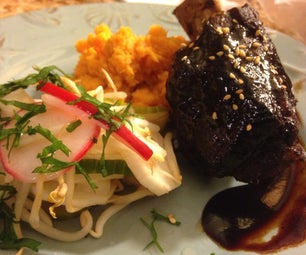 Hoisin Glazed Short Ribs With Asian Pickled Veg