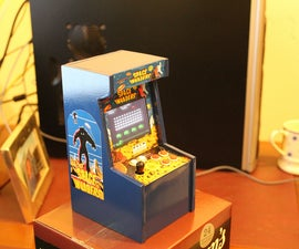 """7"""" Tall Space Invaders Arcade machine"""