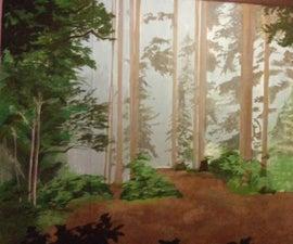 DIY Forest Mural