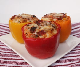 Lentil and Wild Rice Stuffed Peppers