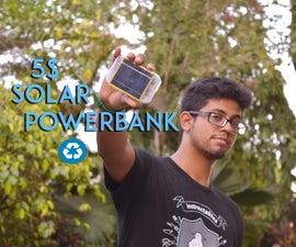 5 $ Solar power bank from recycled laptop battery
