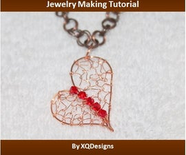 Woven Uneven Heart Pendant Jewelry Making Tutorial