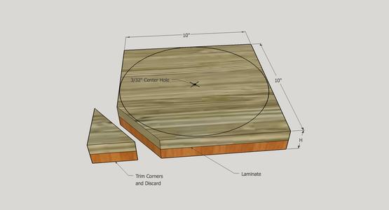 Alternative: Laminate Boards to Prepare a Blank for Your Bowl