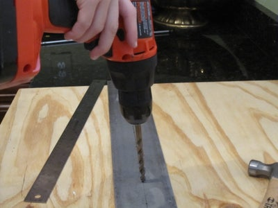 DRILLING FIRST SET OF HOLES