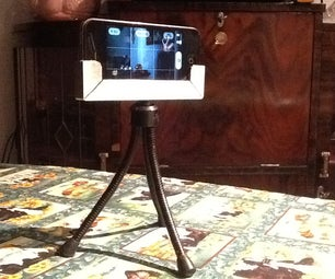 Cheap, Quick & Easy Phone Holder to Tripod!