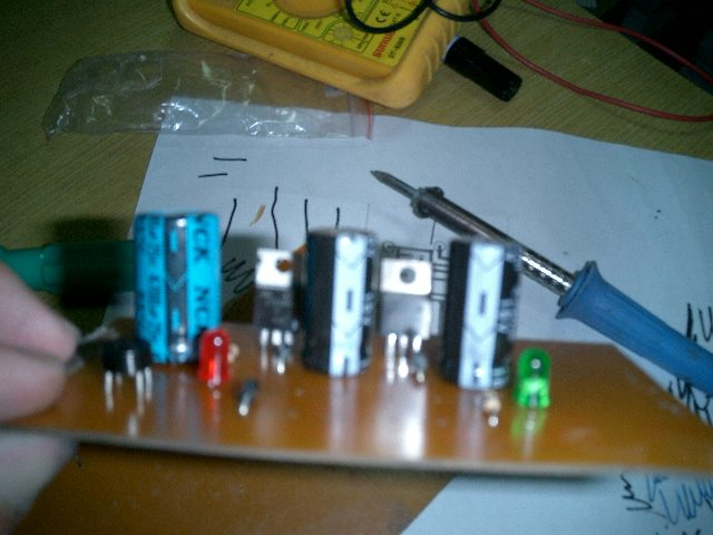 Picture of Placing and Soldering the Components