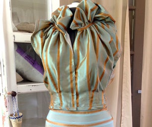 DIY Couture Fashion From Drapes