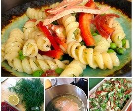Definitely Dilly Salmon Pasta Salad