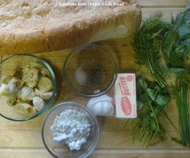 Artichoke Goat Cheese Garlic Bread