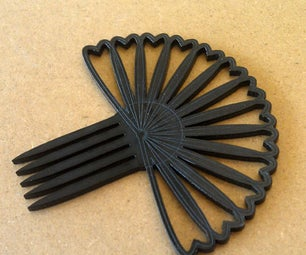 How to Make a Hair Comb With Corel Draw and a Laser Cutter : a Workflow Storyboard