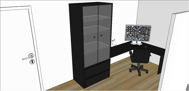 The Desk and Cupboard