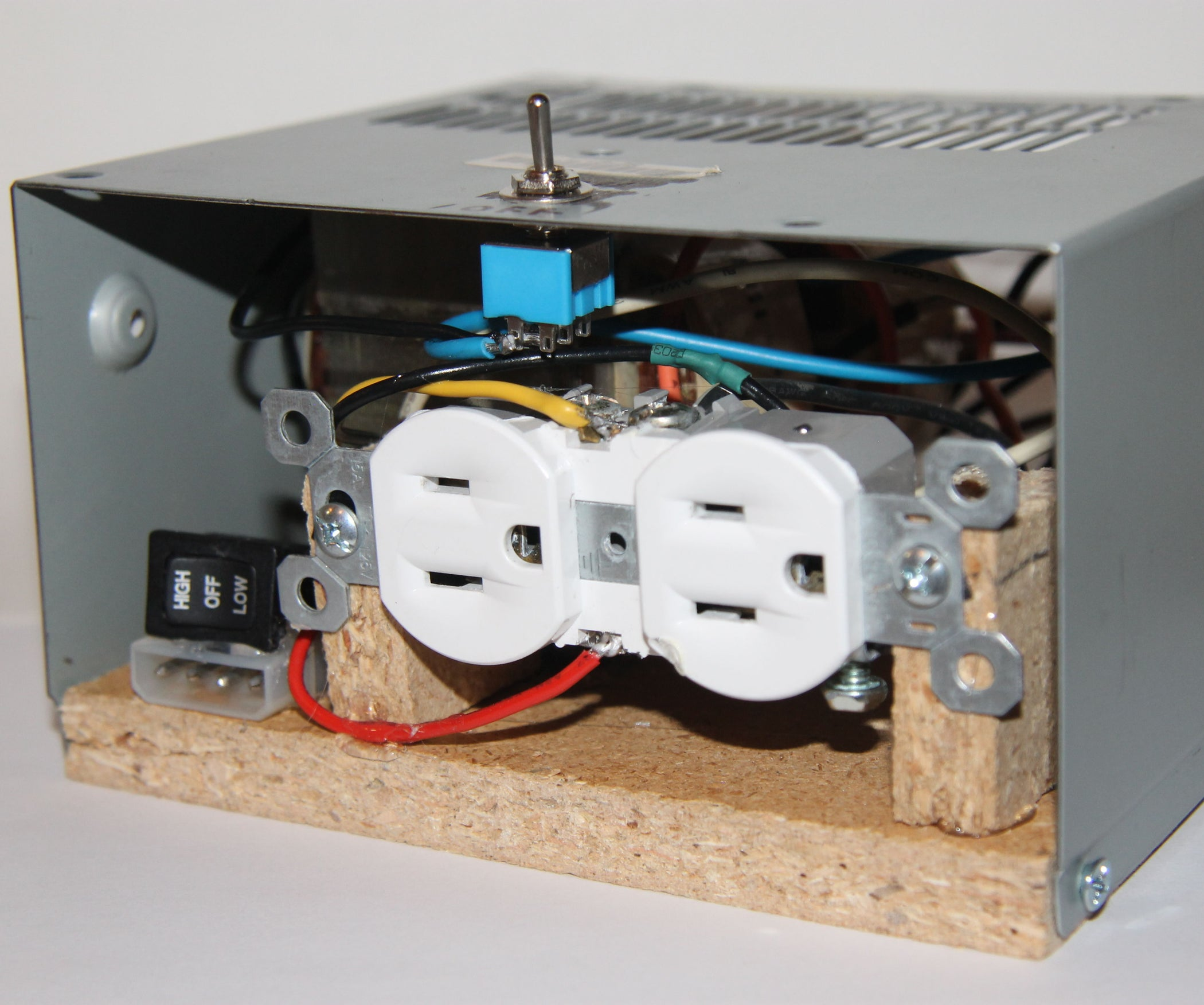 Industrial Isolation Transformer From Trash 9 Steps With Pictures Ballast Wiring Diagram Additionally Ac Current Circuit