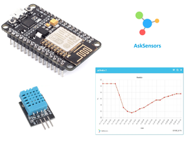 DHT Temperature and Humidity Monitoring Using the ESP8266 and the AskSensors IoT Platform