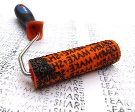 Paint roll hack - Text and massage  (customised 3D printed adaptors) Samuel N Bernier
