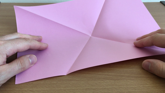Fold the Paper Edge to Edge As Shown in the Picture and Then Unfold.