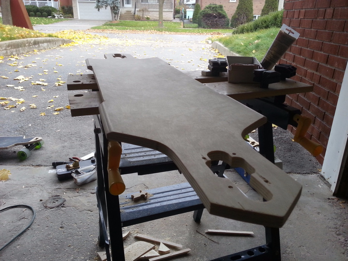 Picture of Filling, Shaping and Sanding the Deck
