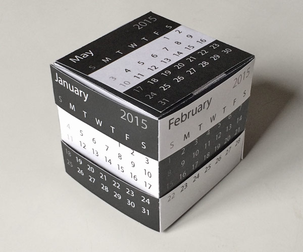 Picture of The Amazing Paper Puzzle Box: Rubik's Cube or Calendar