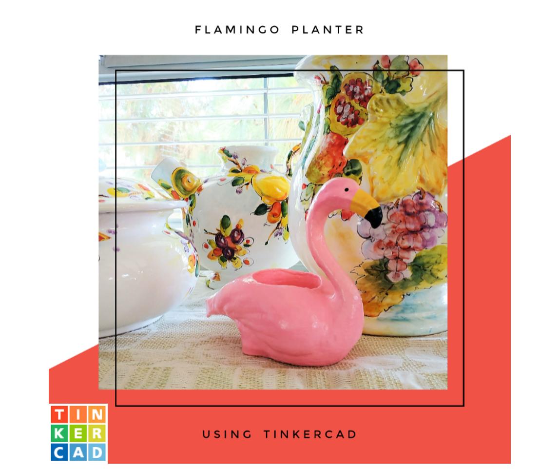 Picture of Flamingo Planter (Tinkercad)