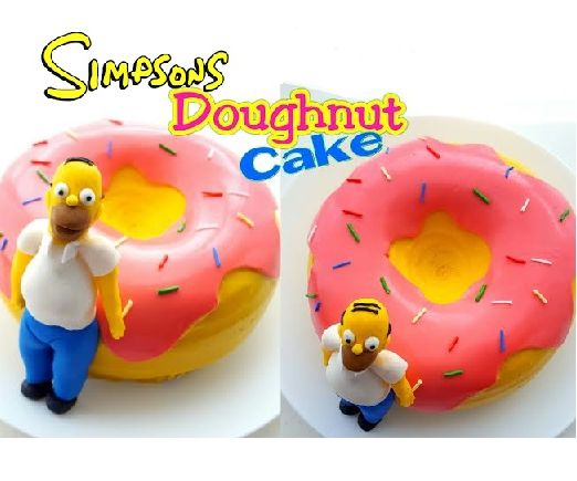 Excellent The Simpsons Doughnut Cake 5 Steps With Pictures Instructables Funny Birthday Cards Online Alyptdamsfinfo