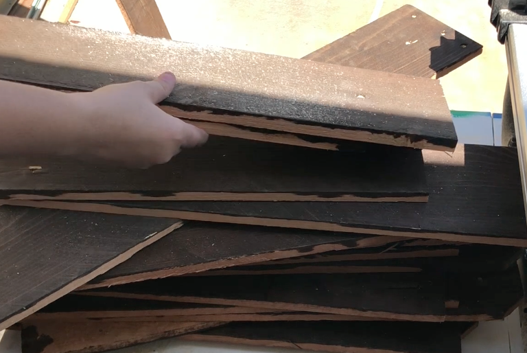 Picture of Preparing the Wood Slats