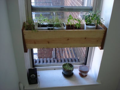 Herb Planter Box for the Kitchen -- Easy Install