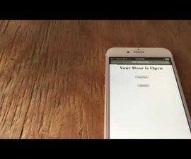 Smart Phone (WiFi) Controlled Garage Door Opener With ESP8266