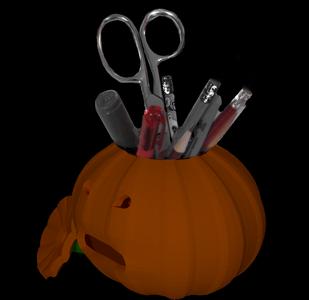 3D Printable Jack-O'Lantern Pencil Holder, Blender