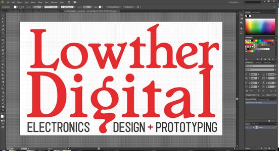 Design the Logo in a Vector-based Graphics Editor