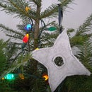 Ninja Throwing Star Christmas Tree Ornament