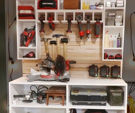 Cordless Drill Charging Tool Wall and Storage Rack