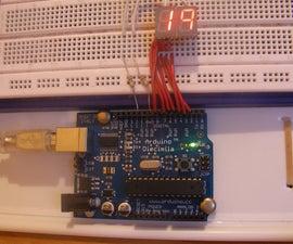 Arduino 7 segment countdown timer