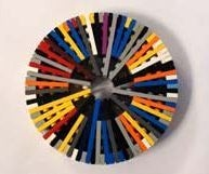 Make a lego plate wheel